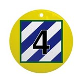 4th Brigade Patch Ornament (Round)