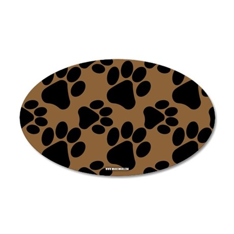 Dog Paws Brown Wall Decal