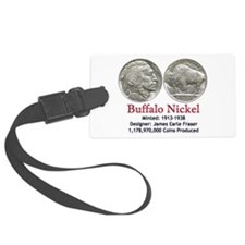 Buffalo Nickel Luggage Tag