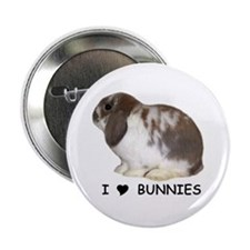 """I love bunnies 1"" Button"