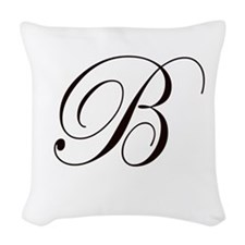 """Personalize! Woven """"B"""" Throw Pillow"""