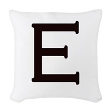 "Personalize! Woven ""E"" Throw Pillow"