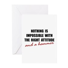 Attitude Hammer Greeting Cards (Pk of 10)