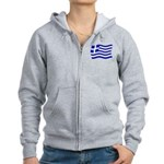 Like_Greek2.psd Women's Zip Hoodie