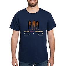 Nothin' Butt Dobermans Navy T-Shirt