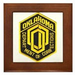 Oklahoma Corrections Framed Tile