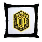 Oklahoma Corrections Throw Pillow
