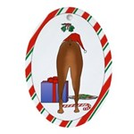 Doberman (Dobie) Christmas Oval Ornament