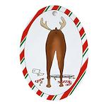 Doberman Christmas Oval Ornament