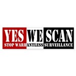 Yes We Scan Bumper Sticker