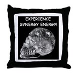Crystal Skull Synergy Throw Pillow