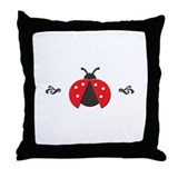 Red Ladybug Throw Pillow