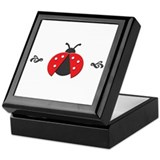 Red Ladybug Keepsake Box