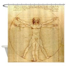 Leonardo da Vinci - Vitruvian man Shower Curtain