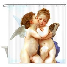 Bouguereau First Kiss Angels Shower Curtain
