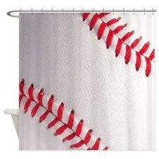 Diagonal Baseball Shower Curtain