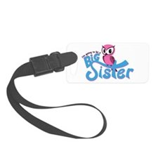 Girly Going to be a Big Sister Luggage Tag