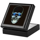 Skull and World Keepsake Box