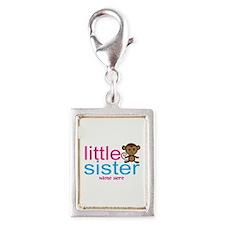 Monkey Big Sister Silver Portrait Charm