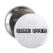 """GAME OVER 2.25"""" Button (10 pack)"""
