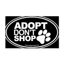 Adopt Don't Shop EURO Oval Stickers Rectangle Car