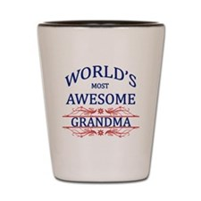 World's Most Awesome Grandma Shot Glass