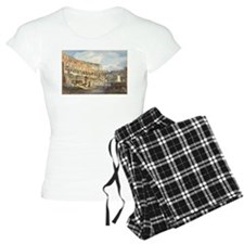 Ippolito Caffi - Interior of the Colosseum Pajamas