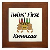Twins First Kwanzaa Framed Tile