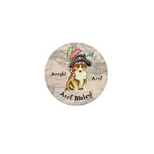 Sheltie Pirate Mini Button (10 pack)