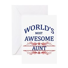 World's Most Awesome Aunt Greeting Card