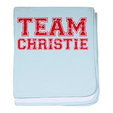Team Christie baby blanket