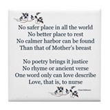 NEW! Breastfeeding Poem Tile Coaster