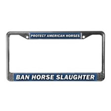 Anti-Horse Slaughter License Plate Frame