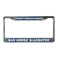 Anti-Horse Slaughter License Plate Frame