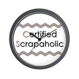 Certified Scrapaholic Wall Clock