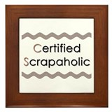 Certified Scrapaholic Framed Tile