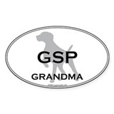 GSP GRANDMA Oval Decal