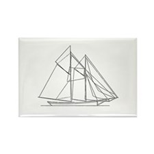 Fishing Schooner Logo Rectangle Magnet