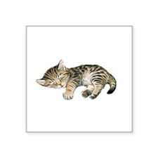 Cat Nap Rectangle Sticker