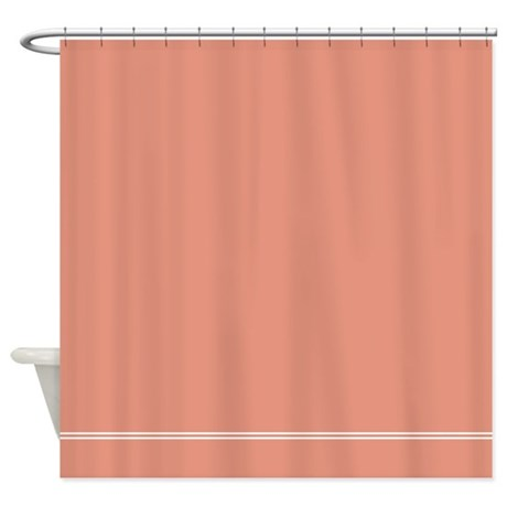 Salmon Colored Shower Curtain Melon Colored Shower Curtain