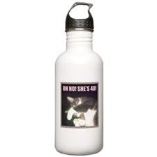 Funny 40th Birthday (Cat) Water Bottle