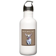 90th Birthday Humor (Dog) Water Bottle