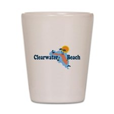 Clearwater FL - Map Design. Shot Glass