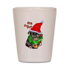 Pug Christmas Shot Glass