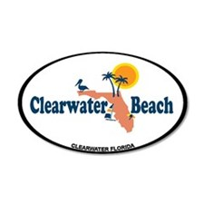 Clearwater FL - Map Design. Wall Decal