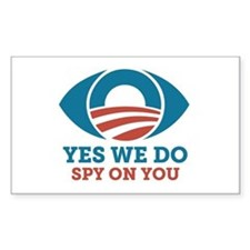 Yes We Do Spy On You (Obama Eye) Decal