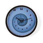 Blue Spiral Wall Clock