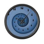 Blue Spiral Large Wall Clock