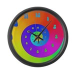 60's Spiral Large Wall Clock