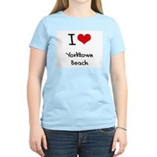 I Love YORKTOWN BEACH T-Shirt
